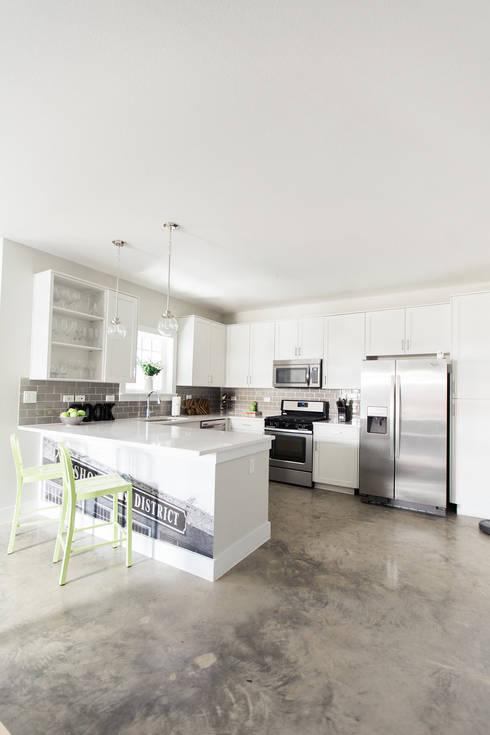 Urban Retreat: modern Kitchen by Brett Nicole Interiors