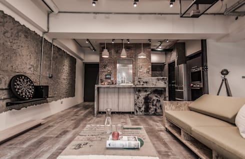 竹東 PC House:  庭院 by 丰墨設計   Formo design studio