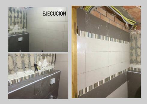 Durante la Ejecución: Baños de estilo  por Ana Benítez Estudio de Interiorismo