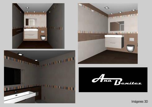 Baño de Invitados: Baños de estilo  por Ana Benítez Estudio de Interiorismo
