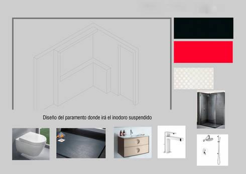 Los Baños de Pedro: Baños de estilo  por Ana Benítez Estudio de Interiorismo
