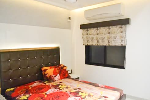 Residence of Mr Mukesh Shah: classic Bedroom by Sanchi Shah Interior Designer
