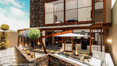 CASA JONES - PROYECTO: Jardines de estilo moderno por FRANCO CACERES / Arquitectos & Asociados
