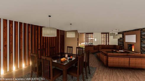 CASA JONES – PROYECTO: Comedores de estilo moderno por FRANCO CACERES / Arquitectos & Asociados