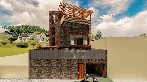 CASA JONES – PROYECTO: Anexos de estilo moderno por FRANCO CACERES / Arquitectos & Asociados