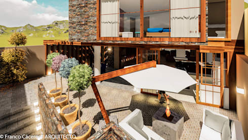 CASA JONES – PROYECTO: Casas de estilo moderno por FRANCO CACERES / Arquitectos & Asociados
