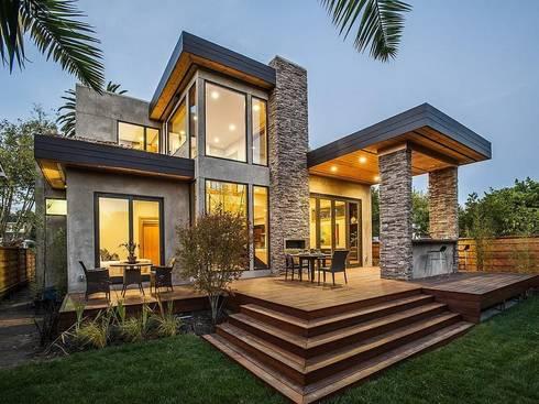 Modern double storey family house: modern Houses by Ndiweni Architecture
