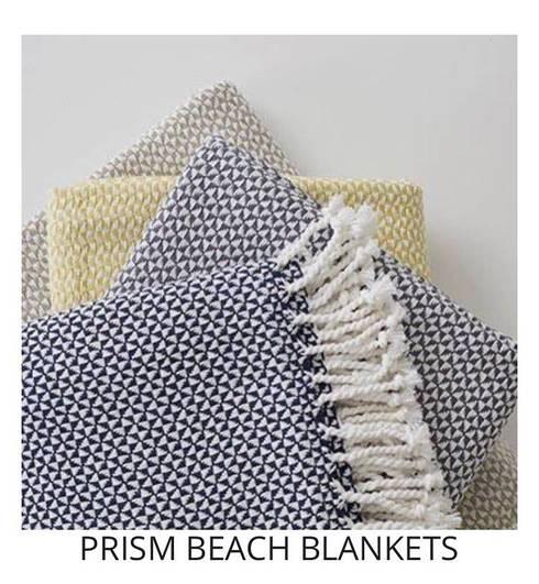 PRISM BEACH BLANKETS: modern Living room by Blake Matthew Design