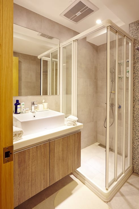 北市 北投 Hsu residence:  浴室 by 双設計建築室內總研所