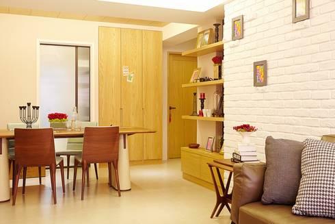 北市 北投 Hsu residence:  客廳 by 双設計建築室內總研所
