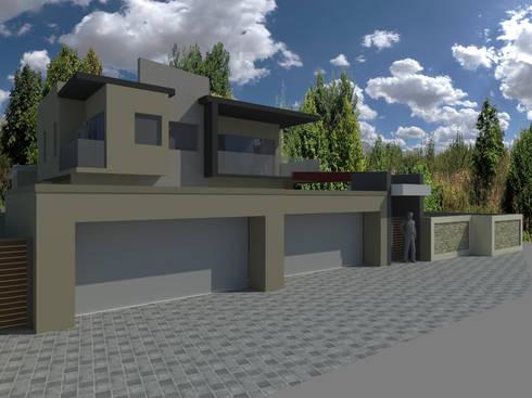 HOUSE CORNELIUS - Baronetcy Estate, Plattekloof:   by BLUE SKY Architecture