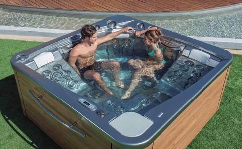 Spa privado modelo Atlántida 70: Spa de estilo moderno de Saunas Durán
