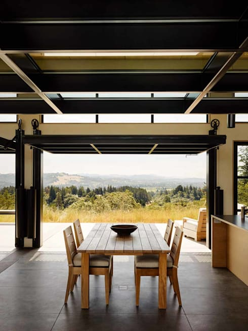 Healdsburg I:  Dining room by Feldman Architecture