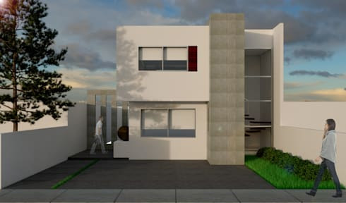 CASA 80 MODELO 1: Casas de estilo minimalista por SIGO ARQUITECTOS