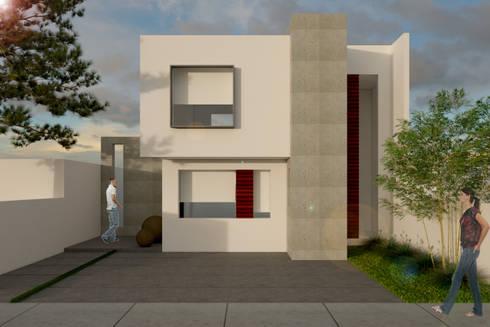 CASA 80 MODELO 2: Casas de estilo minimalista por SIGO ARQUITECTOS