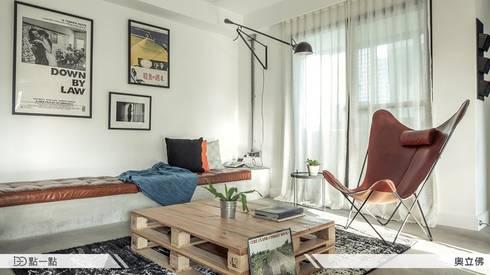 奧立佛設計:  客廳 by iDiD點一點設計