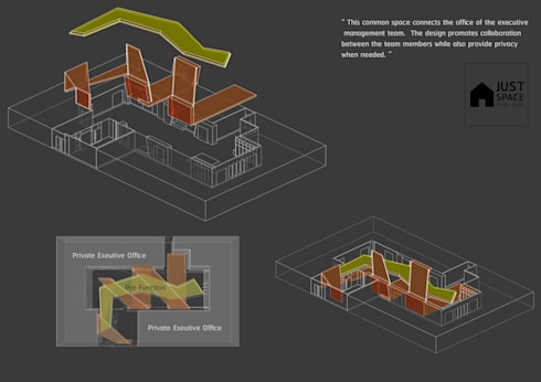 BAM's Exclusive Pre Function:  ระเบียงและโถงทางเดิน by JustSpace Design Studio