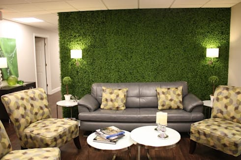 Artificial boxwood hedges mat for accent wall: country Living room by Sunwing Industrial Co., Ltd.