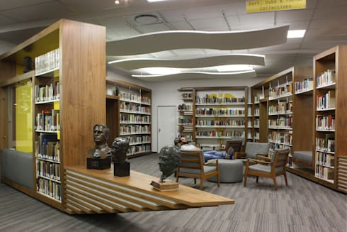 WITS HEALTH SCIENCES LIBRARY RECEPTION: modern Study/office by Architects Of Justice