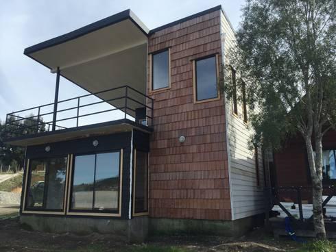VIVIENDA HUMEDAL DE PUTEMUN: Casas de estilo moderno por GerSS Arquitectos