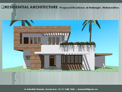 Residential Bugalow at Ratnagiri, Maharashtra.: modern Houses by SILVERFERNS DESIGN INNOVATION