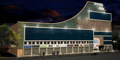 Facade Design for Braganza House, Mapusa, Goa.: modern Houses by SILVERFERNS DESIGN INNOVATION