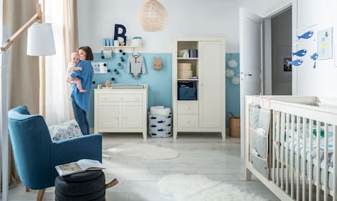 blue nursery furniture. Mediterrenean Nursery Furniture Set: Mediterranean Nursery/kid\u0027s Room By Funique Blue E