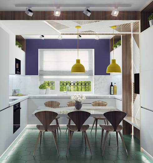 Small kitchen interior design: modern Kitchen by Ksenia Konovalova Design
