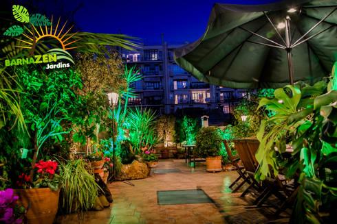 Iluminacion led de exterior de barnazen homify for Iluminacion led para jardines