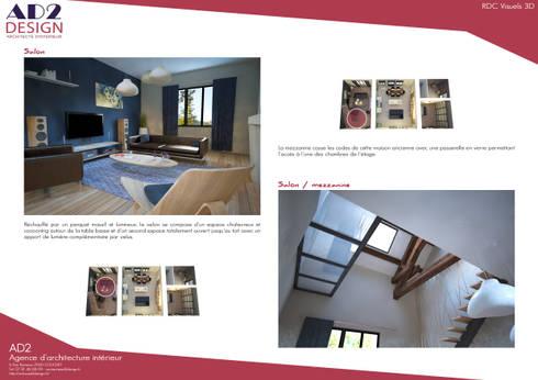 visuels salon / escalier:  de style  par AD2