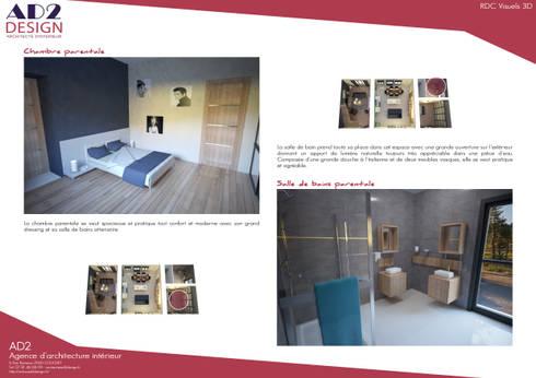 visuels chambre et salle de bains:  de style  par AD2