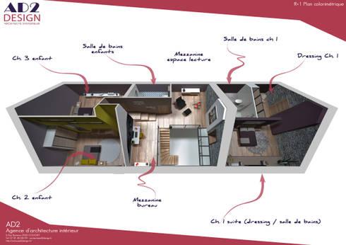 visuel plan étage:  de style  par AD2