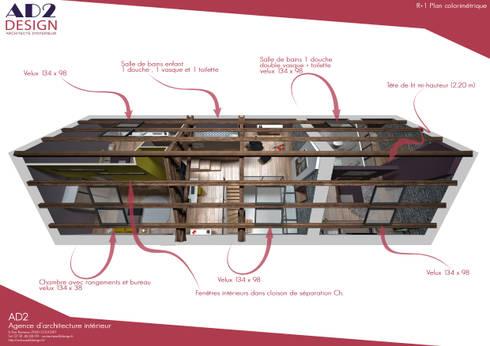 visuel plan étage avec charpente:  de style  par AD2