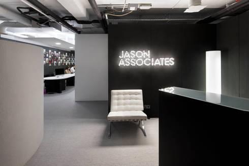 Receção: Escritórios  por GAVINHO Architecture & Interiors