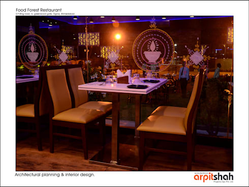 Food Forest Restaurant @ Ognaj  Architectural Planning & Interior Design:  Commercial Spaces by ARPIT SHAH PROJECTS OPC PVT LTD.