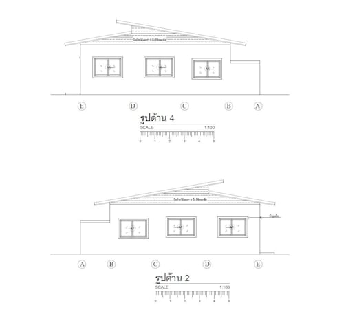 ห้องแถว 6 ห้อง:   by รับเขียนแบบบ้าน