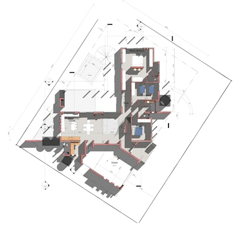 Floor Plan: modern Houses by Architects Unbound (Pty) Ltd.