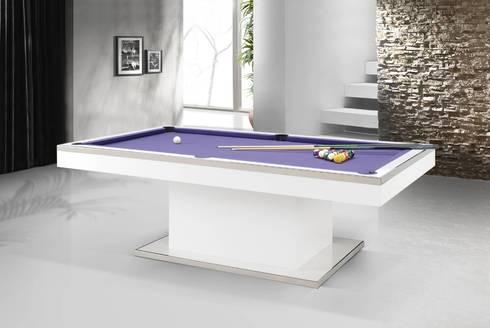 Bilhares snooker Snooker www.intense-mobiliario.com  TELRACS http://intense-mobiliario.com/pt/bilhares-snooker/6620-bilhar-snooker-telracs.html: Sala de estar  por Intense mobiliário e interiores;