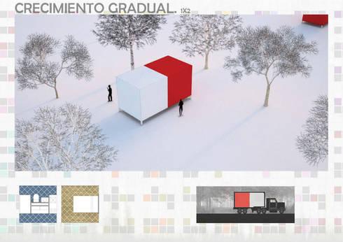 Unidades Mínimas Habitables:  de estilo  por gOO Arquitectos