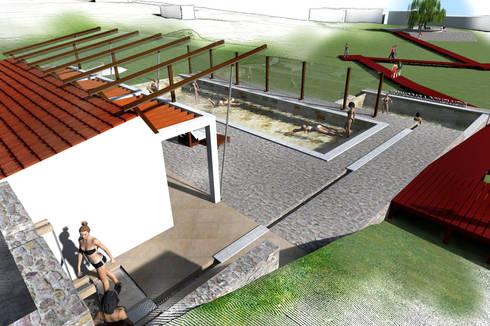 Piscinas de estilo rural por Paz Ingenieros & Arquitectos