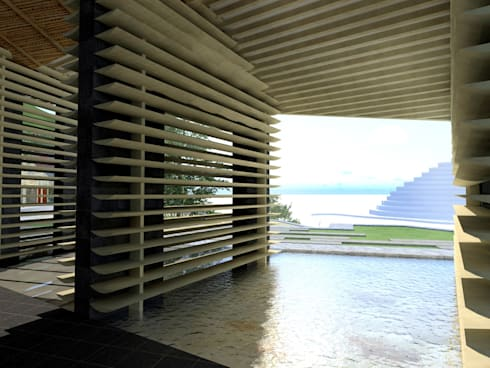 Spa de estilo moderno por Paz Ingenieros & Arquitectos