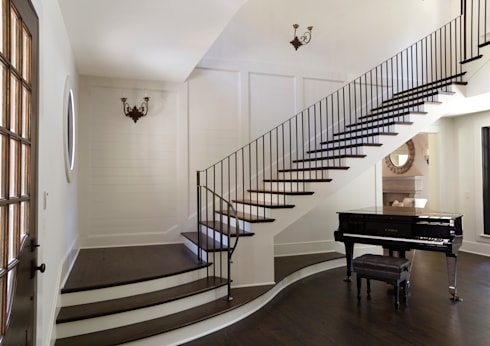 French Normandy Indian Springs Home:  Corridor & hallway by Christopher Architecture & Interiors