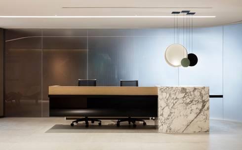 VMS Investment Group Headquarters, Hong Kong, by Aedas Interiors - Reception:   by Aedas