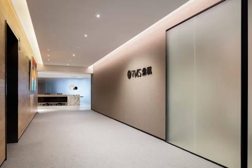 VMS Investment Group Headquarters, Hong Kong, by Aedas Interiors - Lift Lobby:   by Aedas