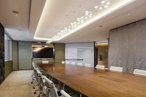 VMS Investment Group Headquarters, Hong Kong, by Aedas Interiors - Conference Room:   by Aedas