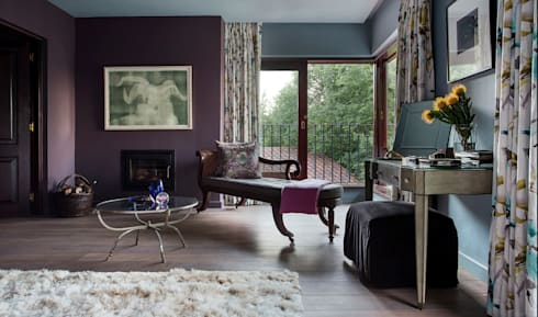 Master Bedroom Reading Nook:  Hotels by W Cubed Interior Design