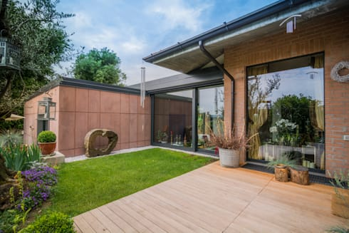 Casa patio 2 di moretti more homify for Esterno di case in stile spagnolo
