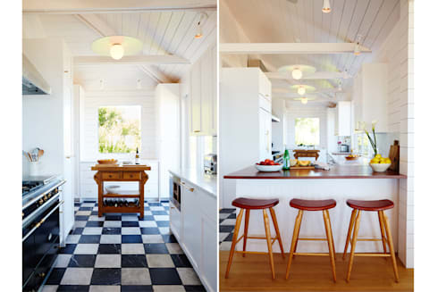 Old Montauk Highway House: modern Kitchen by SA-DA Architecture