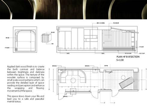 生活之繭/簡:  書房/辦公室 by 行一建築 _ Yuan Architects