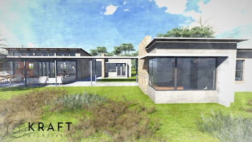 House Van Schalkwyk: modern Houses by Kraft Architects